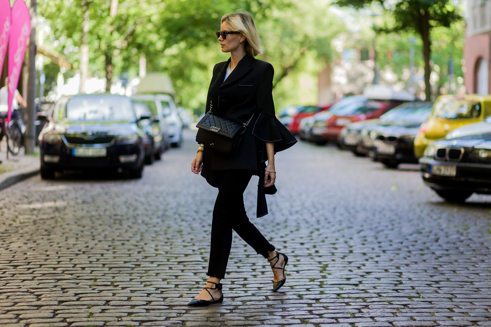 newest 0be4c aa688 Fashion Week Outfit: Ellery Blazer & Cropped Flares