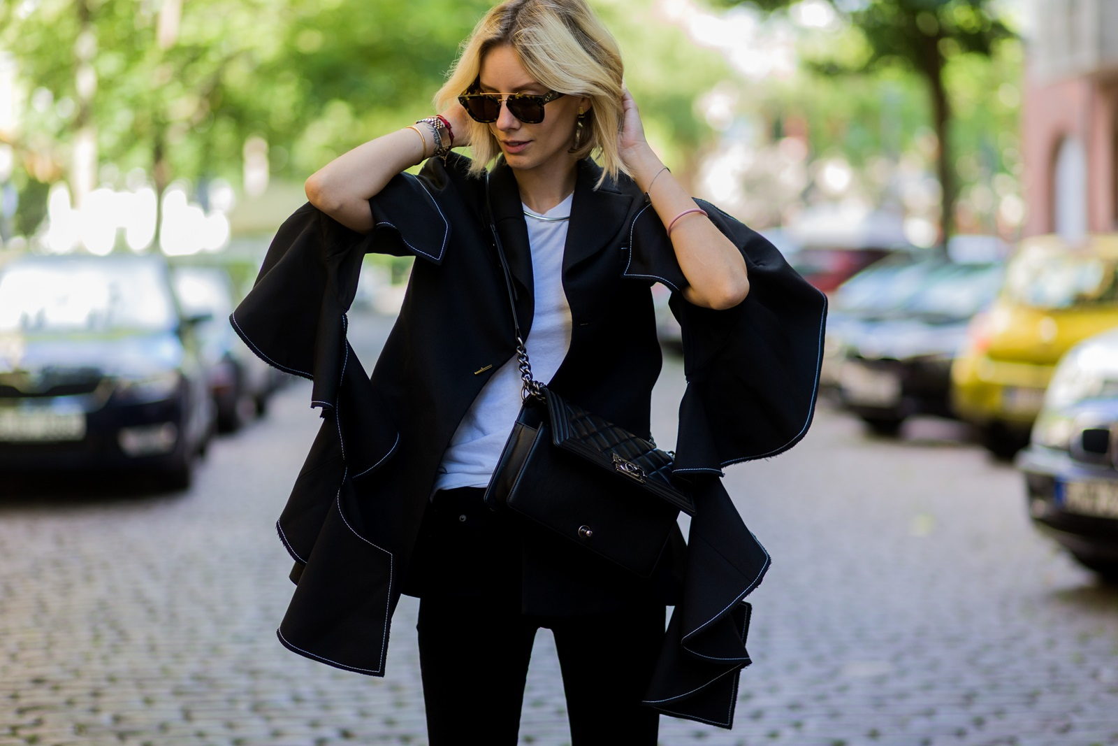 Fashion Week Outfit: Ellery Blazer & Cropped Flares