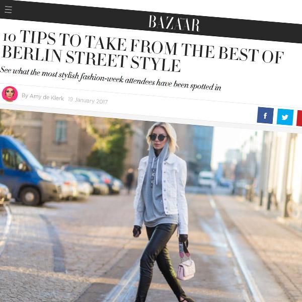 Lisa Hahnbück Harper's BAZAAR // Berlin Fashion Week 2017