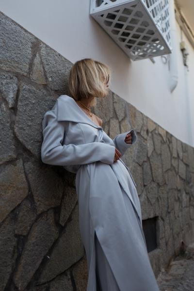 Max&Co. Light Grey Duster Coat Palazzo Trousers Lisa Hahnbück Fashion Blog