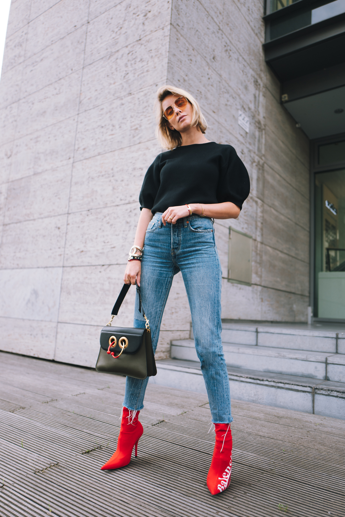 Balenciaga X Colette Knife Boots Outfit Lisa Hahnb 252 Ck