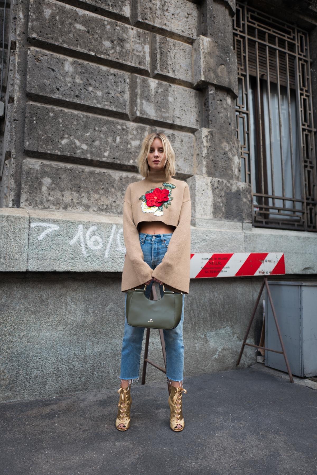 #AignerLove Milan Fashion Week Outfit Lisa Hahnbück Fashion Blogger