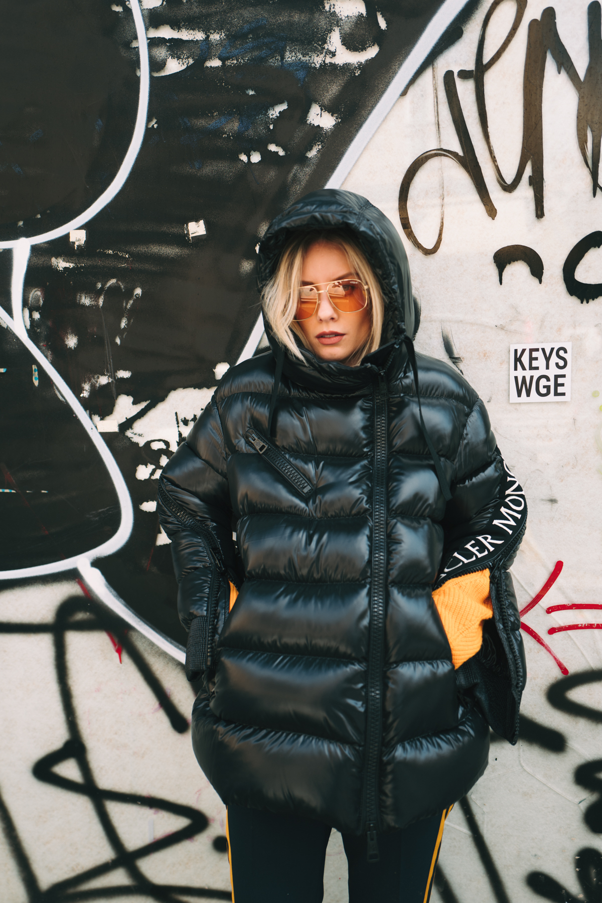 Moncler x Stylebop.com jacket Fashion Blogger Lisa Hahnbück