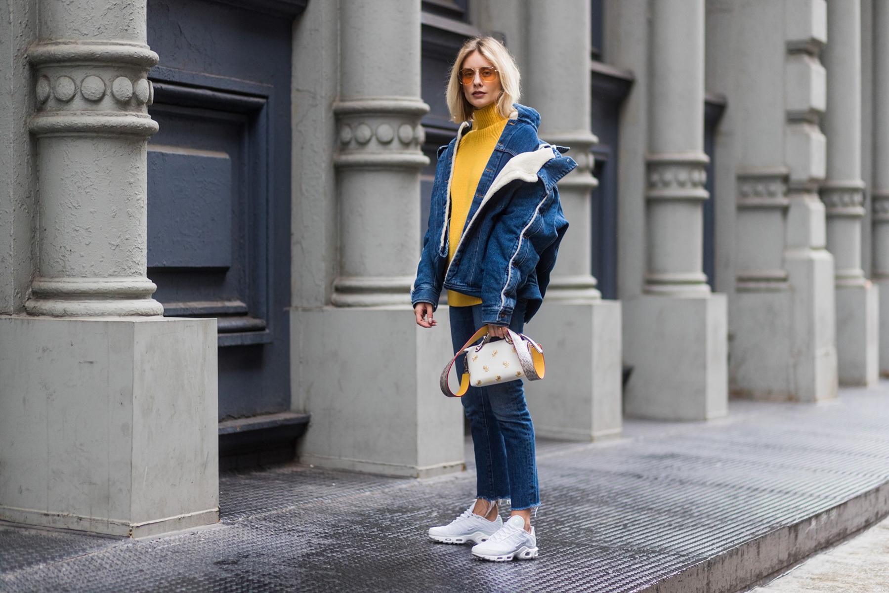 Layering Up statement denim jacket Y/Project Lisa Hahnbück Fashion Blogger