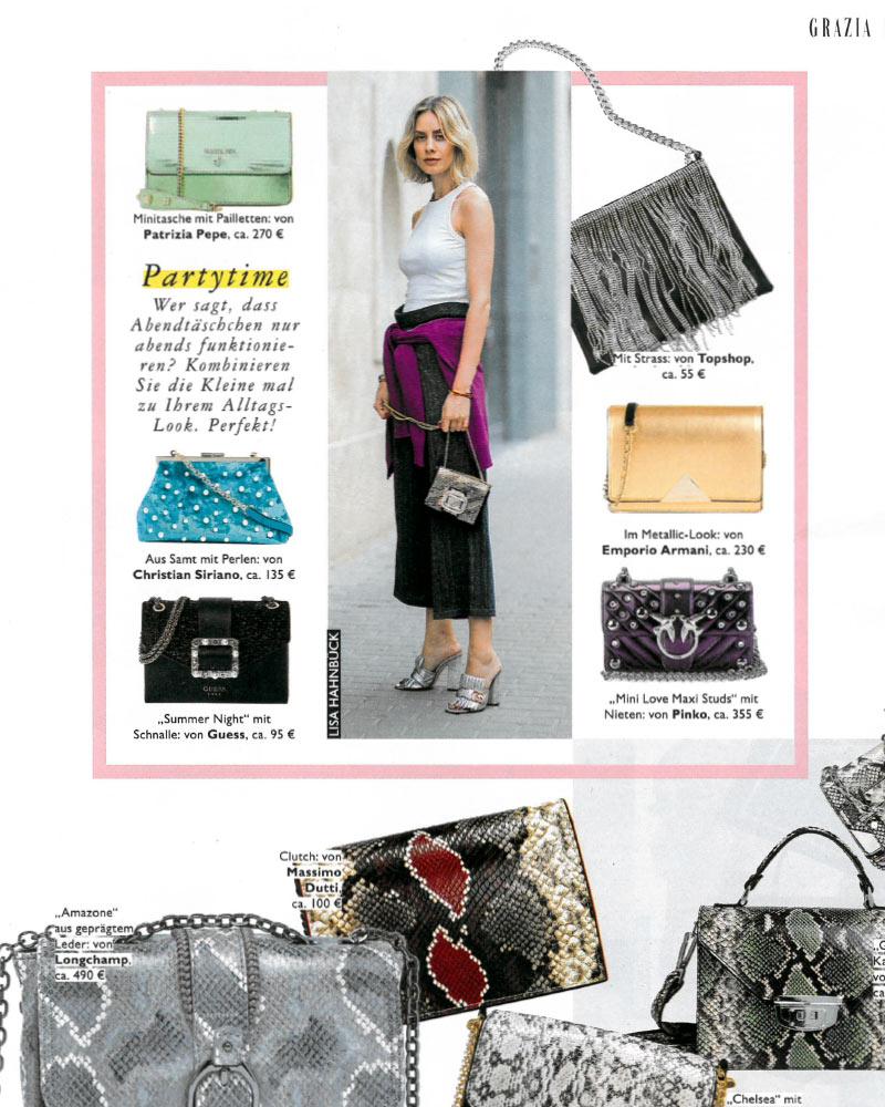 lisa hahnbück presse fashion blogger grazia magazin taschen